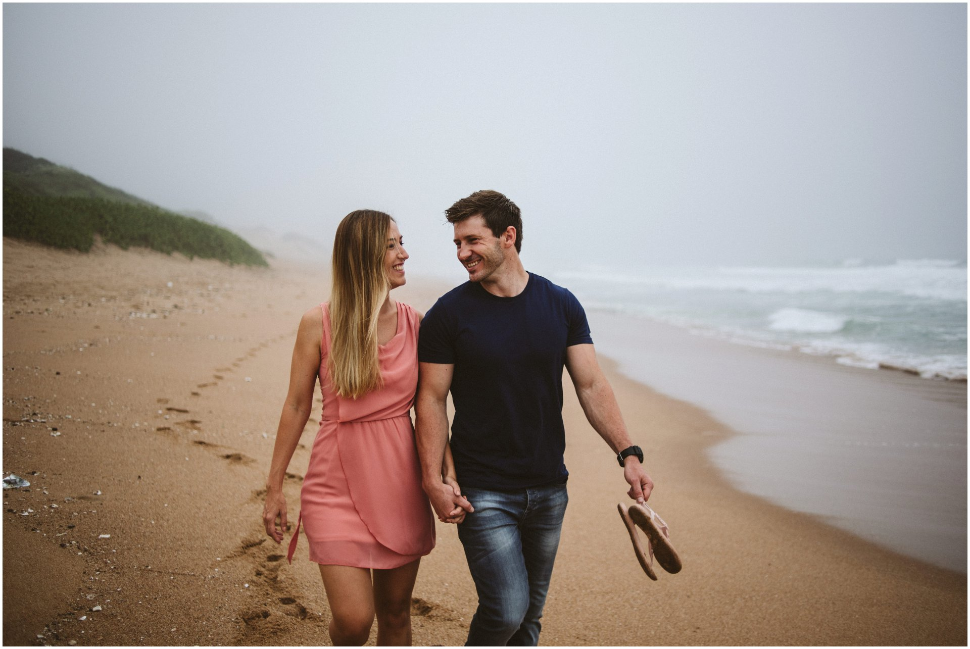 Durban photographer, beach engagement shoot, durban wedding photographer, underwater durban photos, South African Wedding Photographer, South African Elopement, Misty beach walk