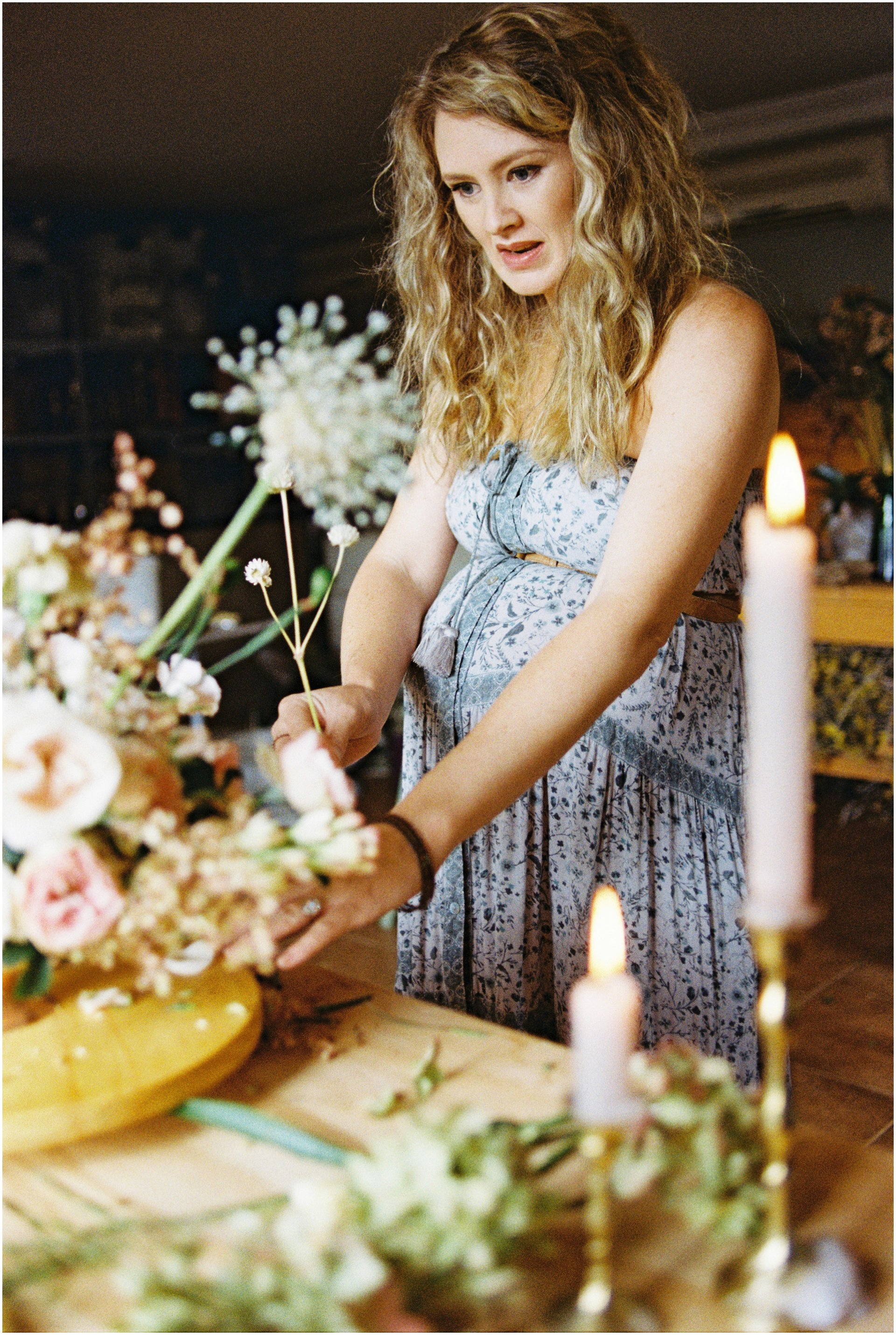Flower and Maternity shoot captured on 35mm film