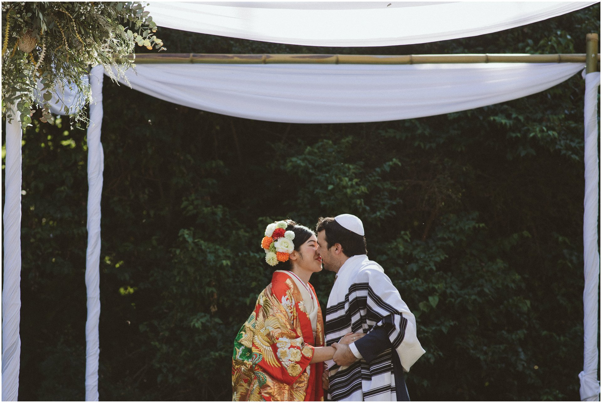 Japanese Jewish Unique garden wedding in Gillitts Durban